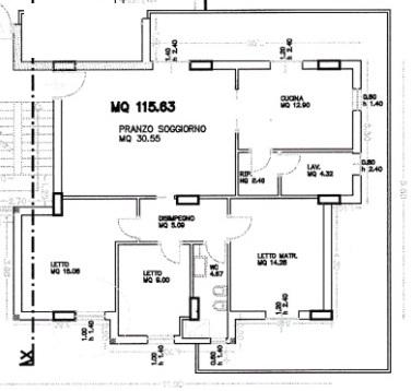 Imperialcasa appartamento di mq 115 a modica rif 1651 for Planimetrie con stanze segrete